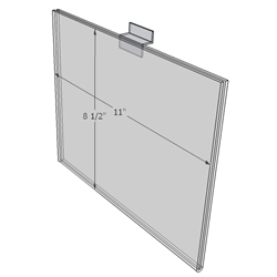 "WM1185FSW - 11"" X 8.5"" sign holder (Landscape - Flush with Slat Wall)-0"