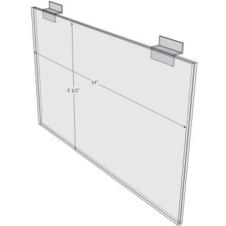 "WM1485FSW - 14"" X 8.5"" sign holder (Landscape - Flush with Slat Wall)-0"