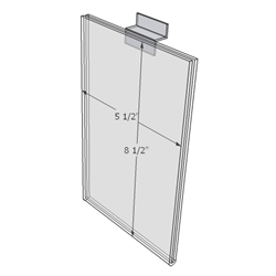 "WM5585FSW - 5.5"" X 8.5"" sign holder (Portrait - Flush with Slat Wall)-0"