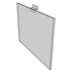 "WM6040FSW - 6"" X 4"" sign holder (Landscape - Flush with Slat Wall)-0"