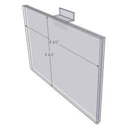 "WM8555FSW - 8.5"" X 5.5"" (Landscape - Flush with Slat Wall)-0"