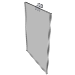 "WM9012FSW - 9"" X 12"" sign holder (Portrait - Flush with Slat Wall)-0"