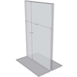 "OB5585 - 5.5"" X 8.5"" countertop sign holder (Portrait)-0"