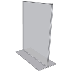 "OB8010 - 8"" X 10"" countertop sign holder (Portrait)-0"