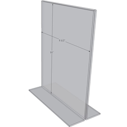 "OB8511 - 8.5"" X 11"" countertop sign holder (Portrait)-0"