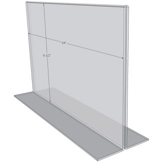 "OB1485 - 14"" X 8.5"" countertop sign holder (Landscape)-0"