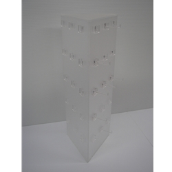 3 Sided Triangle 45 Peg Frosted Display-0