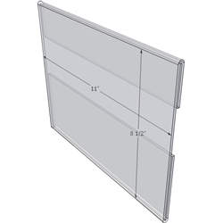 """WM1185C - 11"""" X 8.5"""" wall mounted (Landscape - C-Style Sign Holder Only)-4672"""
