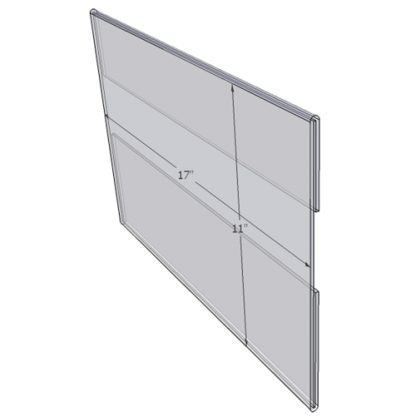 """WM1711C - 17"""" X 11"""" wall mounted (Landscape - C-Style Sign Holder Only)-0"""
