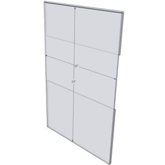 """WM1824C - 18"""" X 24"""" wall mounted (Portrait - C-Style Sign Holder Only)-0"""