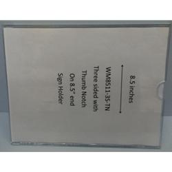 """WM8511F3STN - 8.5"""" X 11"""" (Portrait - Flush """"Mini Pocket"""" Sign Holder)-4622"""