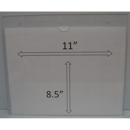 "WM1185S3STN - 11"" X 8.5"" (Landscape - ""Mini Pocket"" Sign Holder with Screw Holes) - Default"
