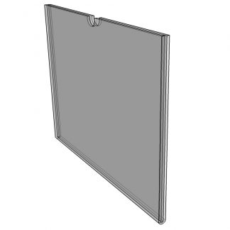 "WM1485F3STN - 14"" X 8.5"" (Landscape - Flush ""Mini Pocket"" Sign Holder) - Without Tape-0"