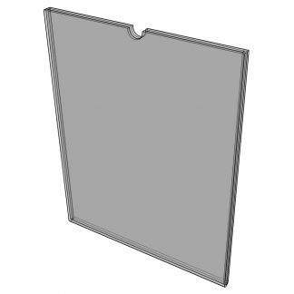 "WM8514F3STN - 8.5"" X 14"" (Portrait - Flush ""Mini Pocket"" Sign Holder) - With Velcro-0"