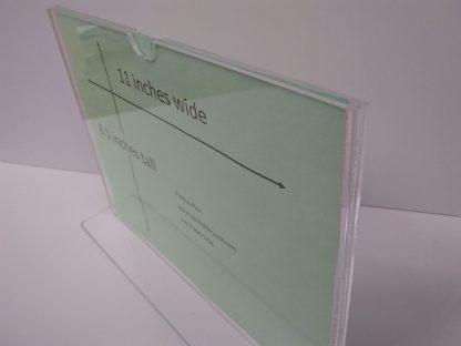 "TStand1185F3STN - 11"" X 8.5"" (Landscape - ""Mini Pocket"" T Stand Sign Holder) -4933"