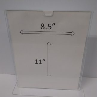 "TStand8511F3STN - 8.5"" X 11"" (Portrait - ""Mini Pocket"" T Stand Sign Holder) -0"