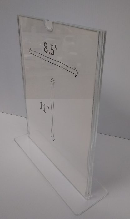 "TStand8511F3STN - 8.5"" X 11"" (Portrait - ""Mini Pocket"" T Stand Sign Holder) -4926"