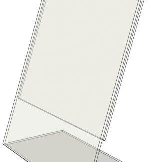 "TB2035 - 2.0"" X 3.5"" slant back (Portrait) - Tilt Back Acrylic Sign Holder - Economy - .08 Inch Thickness-0"